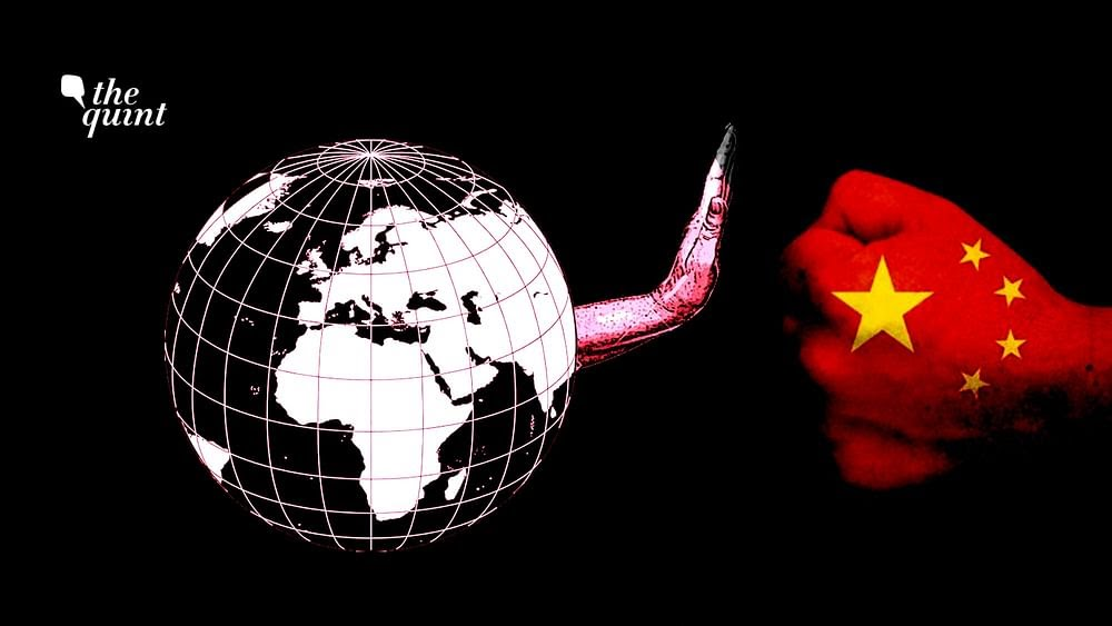 Image of globe (to represent the world) and artistic impression of the Chinese flag used for representational purposes.